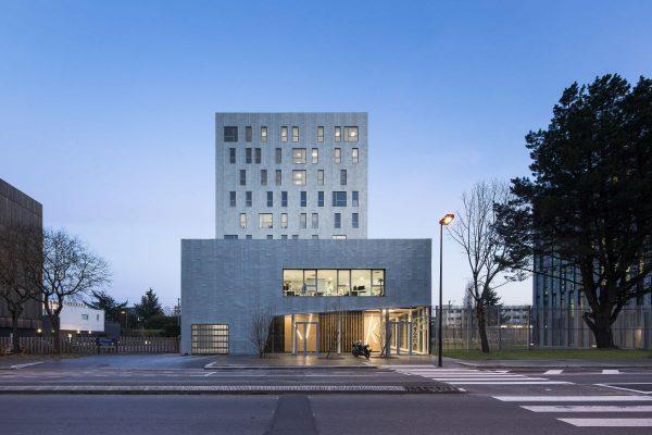 Immeuble  Kanoa (Viviani 2 bis). Architectes : Studio 02. Maitrise d'ouvrage: Eiffage. Nantes (Loire-Atlantique) 02/2016 © Luc Boegly/Studio 02 Architectes