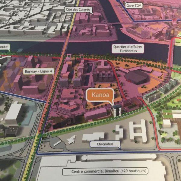 Plan du Quartier Euronantes à Nantes